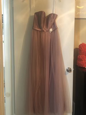 Davids bridal Mikado and Tulle Long Bridesmaid Dress for Sale in Houston, TX