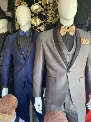 Kids and Men's Suits Dress Shirts Pants Suspenders Ties Bow Ties Charro and Baptism for Sale in Los Angeles, CA