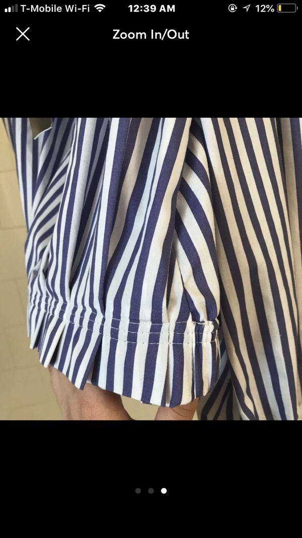 Zara Shirt off the shoulder crop top