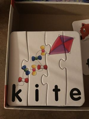 Spelling puzzle card game for kinder and younger for Sale in Federal Way, WA