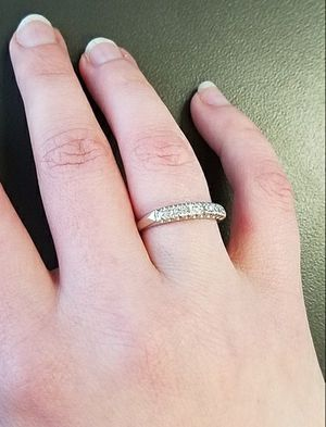 Solid platinum band with diamonds for Sale in Dallas, TX