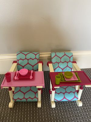 Chairs for your favorite doll including American Girl Doll. for Sale in Nashville, TN