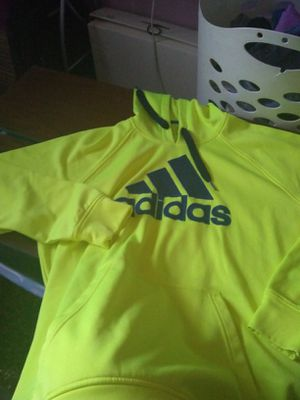 Allowed neon yellow Adidas hoodie for Sale in Wichita, KS