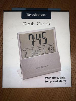 Brookstone Desk Clock for Sale in Chicago, IL