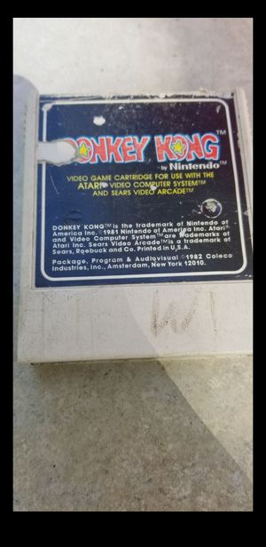 ATARI DONKEY KONG VIDEO GAME 1982 for Sale in Riverside, CA
