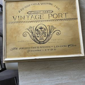 Vintage port Leather Framed Picture for Sale in Columbia, MD