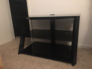 Glass Entertainment/TV Stand, Black for Sale in Newport News, VA