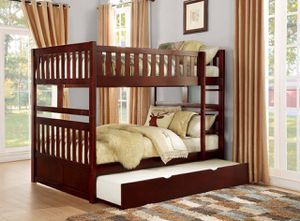 Twin over twin bunk bed with trundle included. Color choice for Sale in Glendale, AZ