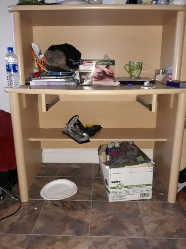 Bedroom set (cabinet/twin bed/desk/mini shelf)