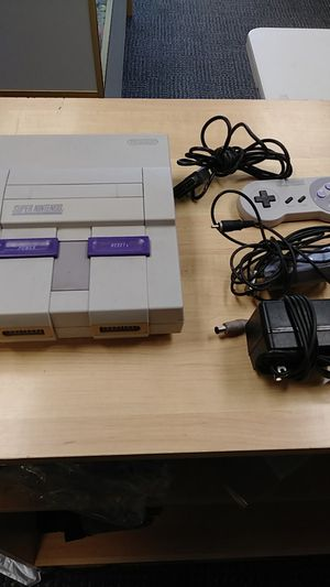 Super Nintendo w/ All Wires and One Controller for Sale in Rutledge, PA