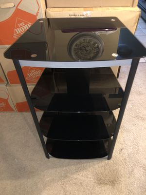 Glass tv stand (entertainment center) for Sale in Arlington Heights, IL