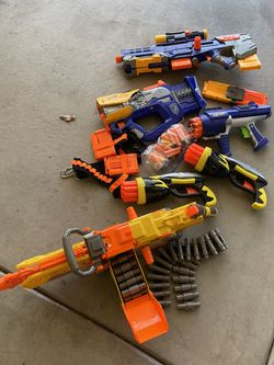 Nerf Guns Extra Bullets And Waist Belt $60 For All for Sale in Riverbank,  CA