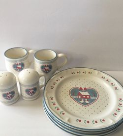Vintage Welcome Friends Dish Set for Sale in Whittier,  CA