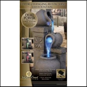 Newport Coast Collection Color Changing Rustic Vase LED Fountain Fountains Indoor Outdoor for Sale in Lewisville, TX