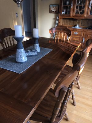 Oak table set with 6 chairs for Sale in West Warwick, RI