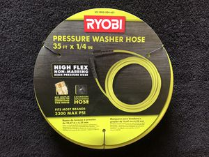 RYOBI 1/4 in. x 35 ft. 3,300 PSI Pressure Washer Replacement Hose for Sale in Queens, NY