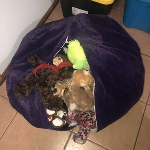 Taha Creations Stuffed Animal Storage Bean Bag for Sale in Hollywood, FL