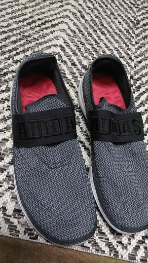 Adidas slip on shoes grey/black size 11 for Sale in Westminster, CO