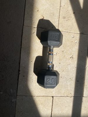 Dumbbell rubber 20lb for Sale in Tampa, FL