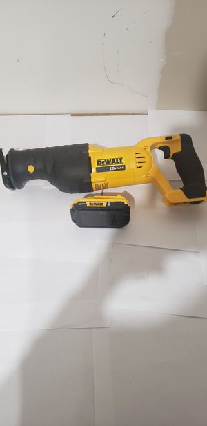 New Dewalt 20v Reciprocating Saw and 20v 2.0ah Battery. for Sale in Blacklick, OH