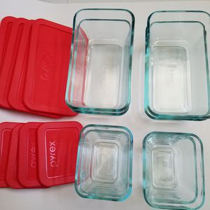 PYREX Glass Rectangular Containers Set 16pc. for Sale in San Dimas, CA
