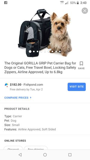 Small dog carrier for Sale in Wapakoneta, OH