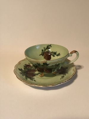 Antique China Tea Cup & Saucer With Pine Cones #6 / 790 for Sale in Surprise, AZ