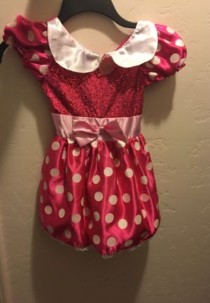 Toddler Minnie Mouse dress and ears for Sale in Visalia, CA