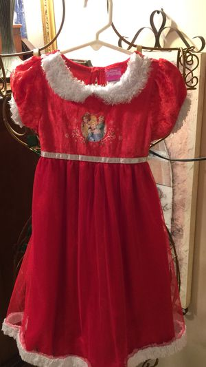 Perfect!! For the Princess crushed red velvet top with fur trim long full bottom silky with sheer soft tulle & sweet pic of belle Cinderella & Ariel for Sale in Northfield, OH