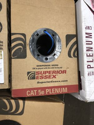 Plenum cable new boxes for Sale in Moreno Valley, CA