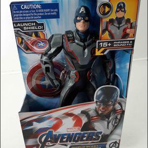 Avengers Endgame Shield Blast Captain America Action Figure for Sale in Houston, TX
