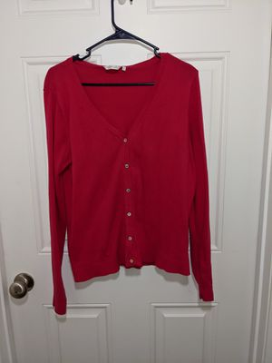 Hot pink /Magenta Cardigan with Ivory coloured Buttons for Sale in Pooler, GA