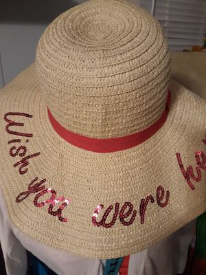 WISH YOU WERE HERE BEACH HAT for Sale in Portsmouth, VA