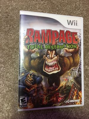 Wii rampage total destruction for Sale in Davenport, IA