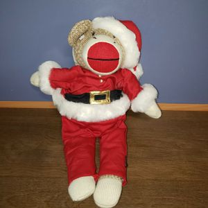 Christmas Stuffed Plush Monkey Xmas Santa Outfit for Sale in Erie, PA