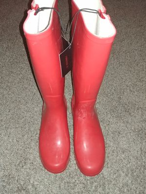 Womens red rain boots size 10 for Sale in Fresno, CA