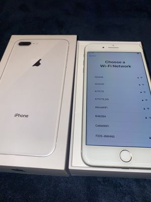 IPhone 8 Plus 64gb Silver with Box and UNLOCKED for Sale in Jersey City, NJ