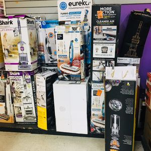 Huge Variety on Vacuums in different Styles sizes and colors from the brands Shark, Dyson, Vacmaster, Hoover, Kärcher, Dirt evil, Ryobi and many more for Sale in Moreno Valley, CA