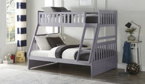 ♻️New♻️Orion Gray Twin/Full Bunk Bed | B2063 byHomelegance for Sale in Jessup, MD