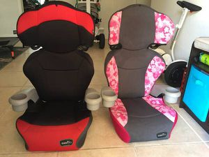 2 Evenflo Booster Car Seat 40-100lbs for Sale in West Palm Beach, FL