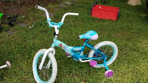 Girls Bicycle with Training Wheels - Light Blue/Green and Pink for Sale in Cayce, SC