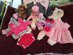Reduce 35.00 for15 pieces with baby doll only 40.00 everthing ids clean for Sale in Toms River, NJ