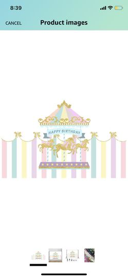 Carousel Backdrop Birthday Baby Shower Stage 1st Birthday Party Decor for Sale in Fairfax,  VA