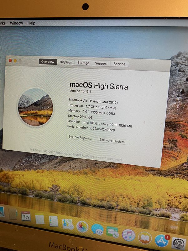 MacBook Air 2012 64gb 4gb Ram