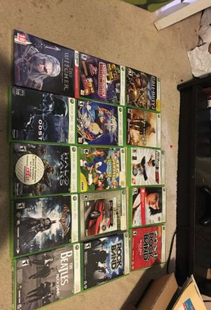 Xbox 360 Games and The Witcher PC for Sale in San Francisco, CA