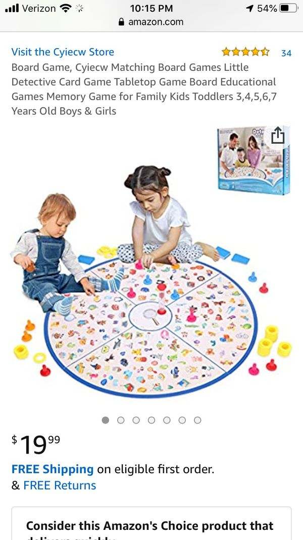 Lukat detectives looking chart memory board game