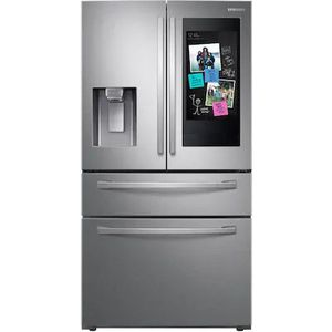 Samsung family hub 27.7-cu ft 4-door French door refrigerator with ice maker (Fingerprint- resistant stainless steel) for Sale in Knoxville, TN