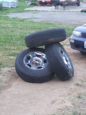 Ford 6 lug. Chrome rims with radial tires 13 P-235-75-R17 for Sale in Lacey, WA