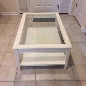 Glass Coffee Table - IKEA White for Sale in Lanham, MD