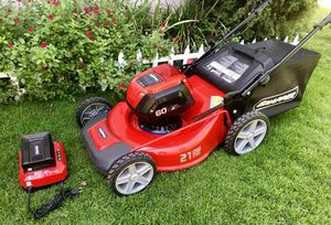 "Lawn mower Snapper cordless 21"" steel deck 60V like new for Sale in San Diego, CA"